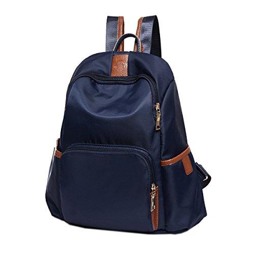 Preisvergleich Produktbild Einfach Studenten All-Spiel Wasserdicht Reisen Bunt Rucksack Laptop-Tasche,Blue-OneSize