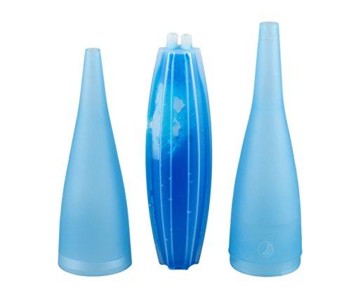 Trendige Gerippt (Ice Bazooka 2.0 schraubbar Eis-Mundstück für Shisha mit Kühlpad Blau)