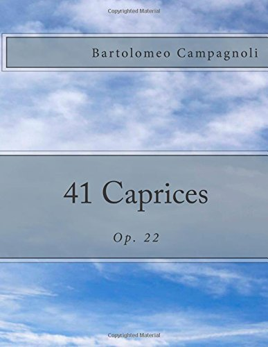 41 Caprices: Op. 22