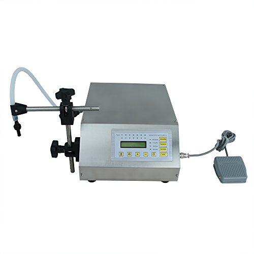 TOPQSC Flüssig Füllmaschine Digitale/LCD Kontrolle Abfüllmaschine 2-3500ml aus Edelstahl für Flüssigkeiten wie Wasser,Öl,Wein usw(2-3500ml) (Flüssigkeit Kontrolle)