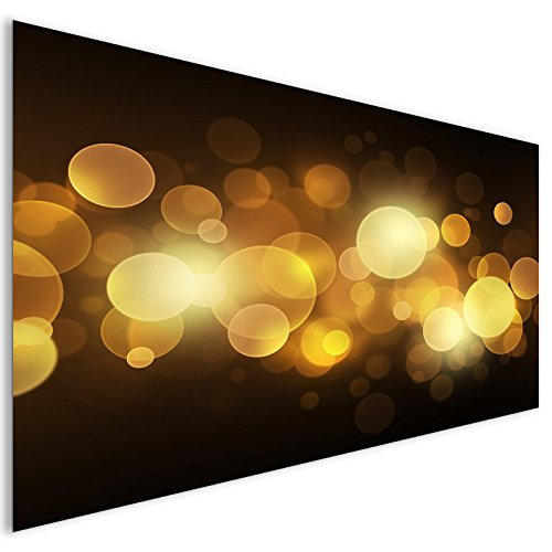 Oro astratto cerchi vetro acrilico moderno Wall Art XL