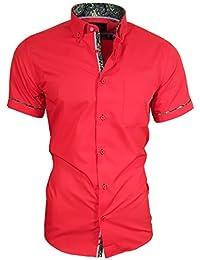 Louis Binder de Luxe Herren Hemd mit Brusttasche Kurzarm Shirt Modern Fit  Button-Down- 43bcbdbf32