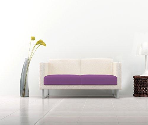 Italian Bed Linen 8058575005441 Copriseduta per Divano Tessuto Bielastico a Struttura Liscia, Lilla, Poliestere, 160 x 50 x 1 cm