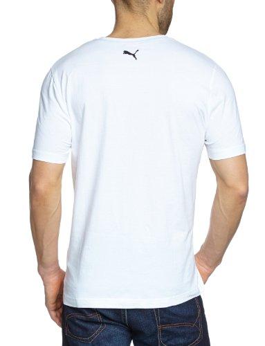 PUMA Herren T-Shirt Large No.1 Logo Tee white-black