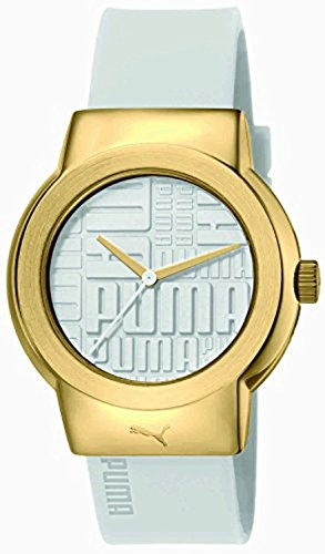 PUMA Updown Women's Quartz Watch with White Dial Analogue Display and White Silicone Strap PU103842003