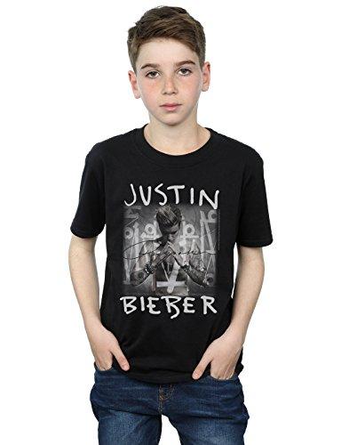 Justin Bieber Jungen Purpose Album Cover T-Shirt 5-6 Years Schwarz (Album-cover Tee)
