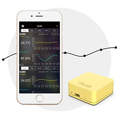 ViseeO QUBS Smart Enregistreur de données de température et d'humidité Jaune