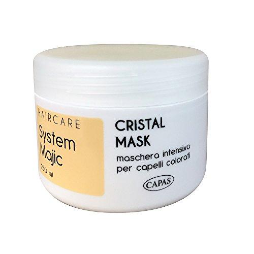 maschera Semi di Lino Cristal 250ml capelli rovinati secchi System Majic