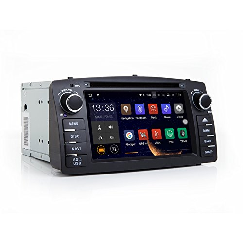 TOOPAI Autoradio Android 7.1 | Systèmes de Navigation GPS pour Toyota Corolla E120