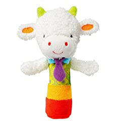 Idea Regalo - TOYMYTOY Giocattolo sonagli di peluches Giocattolo morbida per bambino neonato (Pecora)