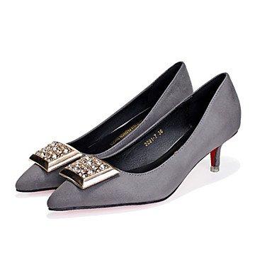 Moda Donna Sandali Sexy donna caduta tacchi Comfort Felpa casual Stiletto Heel altri Nero / Grigio / Fucsia Altri Black