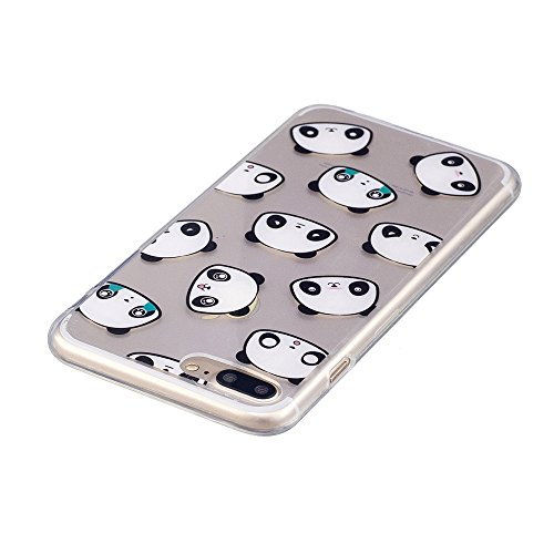 iPhone 7plus Fall, xinyiyi stoßfest Soft Shell Langlebig kratzfest iphone 7plus TPU Schutzhülle Expression bear bear
