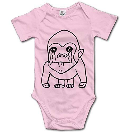 MUAIKEJI Cry Gorilla Cotton Infant Onesie Newborn Clothes