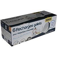 Seko R6 X500 Tabs Neutre Lot de 6 Recharges Galets de 500 g Neutre pour absorbeurs d'humidité