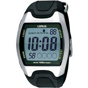 Lorus R2335EX9 Men's Digital Resin Strap Watch