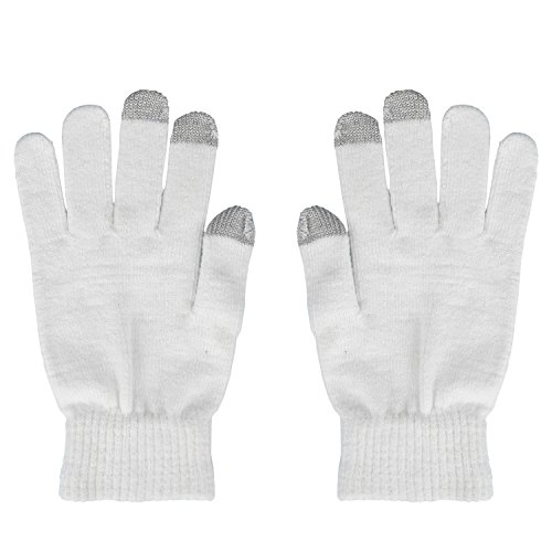 Magic Zone Damen Winterhandschuhe Stretch Kaschmir Handschuhe Touchscreen Handschuhe Damen Volltonfarbe Warm Gestrickte Dicke Warme Handschuhe (Element-fleece-handschuhe)