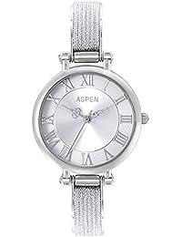 Aspen Stainless Steel Plating Silver Dial Ladies Watch - AP2011