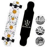 DUBAOBAO Tavola da Cruiser Dritta, Skateboard Longboard da 40 Pollici, Perfetto per i Principianti, Mazzo di Acero a 8 Strati, Regalo Perfetto,1