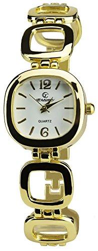 Geschenkset Damen Armbanduhr Silber- Schmuk set- Halskette-Ring- Ohrringe - Armband