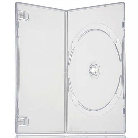 Four Square Media 25X unique Slimline DVD Clear Case 7mm colonne vertébrale–Lot de 25