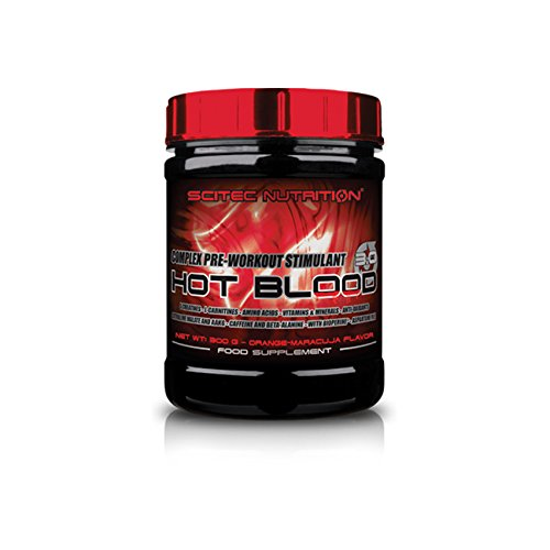 Scitec nutrition – hot blood 3.0 – blue guarana – peso netto: 300 g.