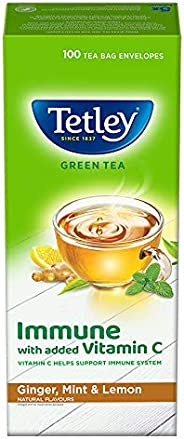 Tetley Green Tea Immune with Added Vitamin C Ginger Mint & Lemon 100 Tea