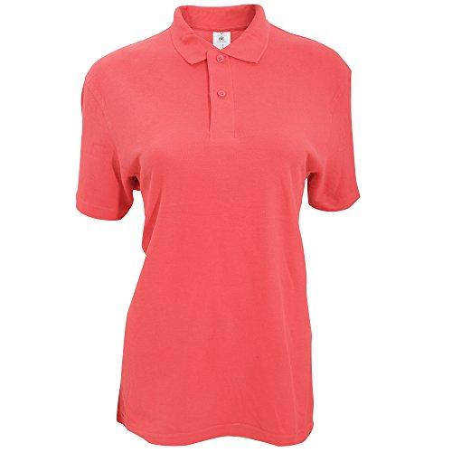 B&C ID.001 Damen Polo-Shirt, Kurzarm Pixel Koralle