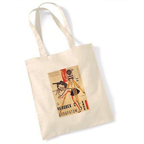 Vintage Teas Homme avec The Movie Camera (2) Sac fourre-Tout