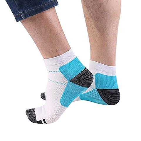 Aptoco fasciite plantaire Chaussettes de compression de chaussettes Foot Care Housse avec arche et support de cheville, Boost Stamina, circulation et de restauration Taille