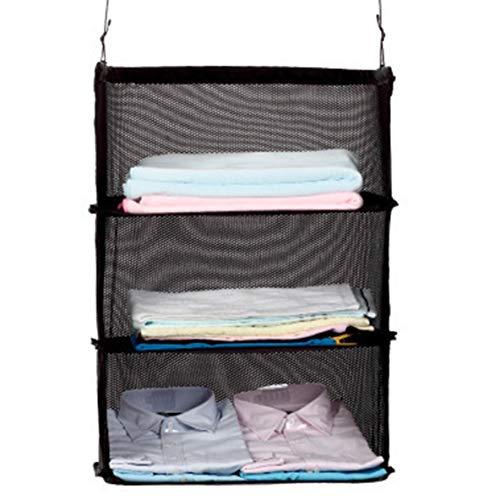 Noradtjcca Multifunktionale kreative Art-Kleidungs-Spielraum-dreistufige hängende Beutel-Spielraum-Schlafzimmer-Polyester-an der Wand befestigte Speicher-Tasche (Kleidung, Hängende Wandmontage)