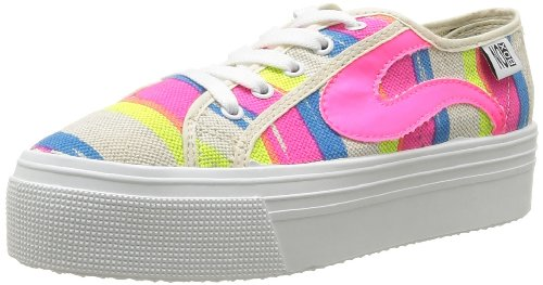 No Box Alma, Damen Hohe Sneakers Rosa - Rose (Neon)