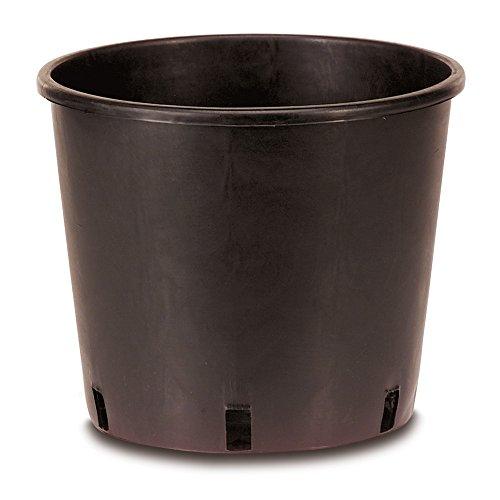 10 pezzi - vaso vivaio nero Ø 24, 9,5 lt per orto - giardino