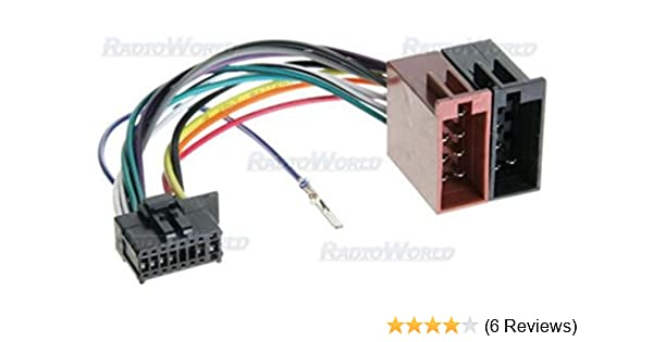 iso wiring harness connector adaptor for pioneer 16 pin amazon co rh amazon co uk