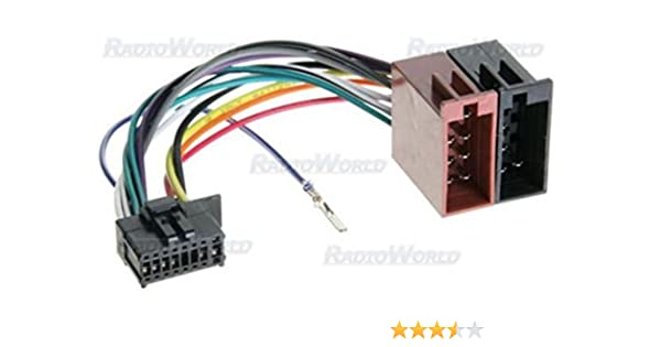 pioneer radio cable wire harness plug pin cde amazon co uk iso wiring harness connector adaptor for pioneer 16 pin