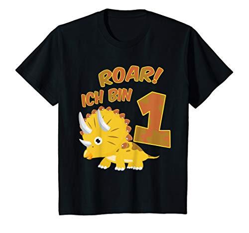Dinosaurier Jungen Kostüm - Kinder 1. Geburtstag Dino T-Shirt Roar Ich Bin 1 Dinosaurier Kostüm