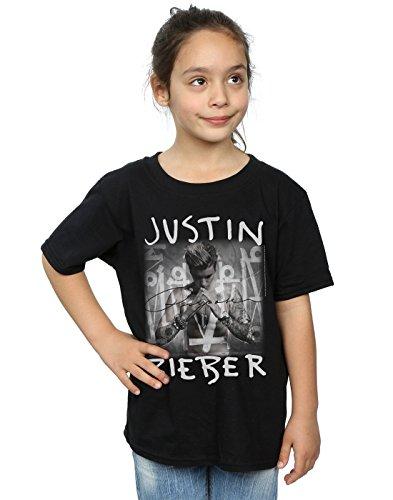 Justin Bieber Mädchen Purpose Album Cover T-Shirt 12-13 years Schwarz (Album-cover Tee)