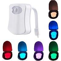 ThrivingTech 8 colori Ciclo movimento ha attivato la lampada copertura igienici, luce automatica sensibile igienici Night Light LED bagno