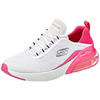 SKECHERS Air Stratus, Women's Sneakers, Multicolour (White/Hot Pink), 38 EU