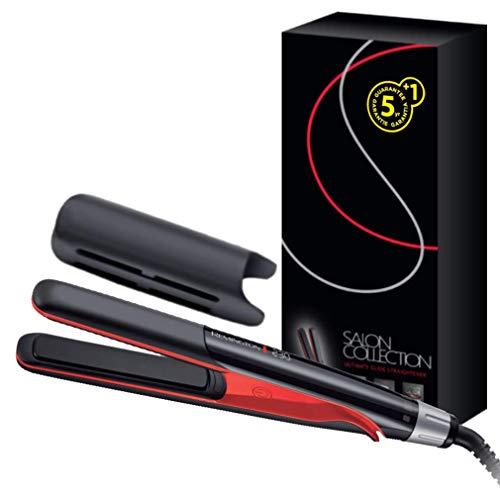 Remington Haarglätter Salon Collection S9700, Ultimate-Glide-Keramikbeschichtung, Infrarot-Keramikheizelement, schwarz/rot - Pearl Remington Haarglätter