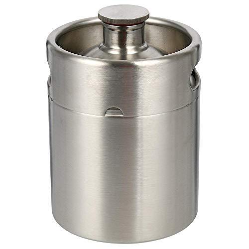 S SMAUTOP 2 Liter 64 Unzen Edelstahl Mini Keg Growler Kantine Craft Beer Home Brew (2L) (Beer Growler 64)