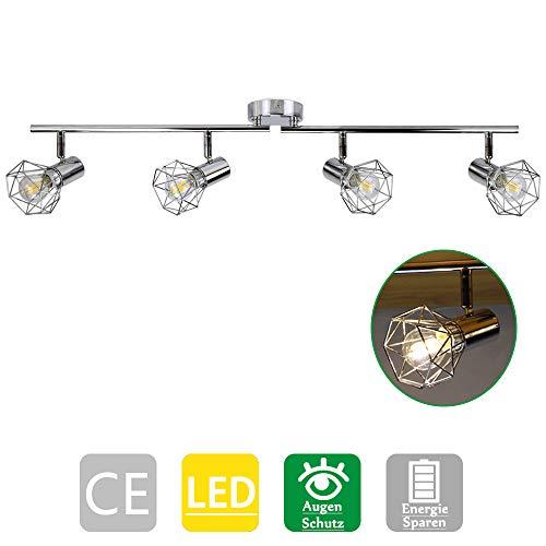 PADMA LED Deckenspots Spotbalken 1200LM schwenkbare Deckenleuchte Metall Vintage Deckenlampe für Wohnzimmer, Schlafzimmer, Küche, Badezimmer, Büro