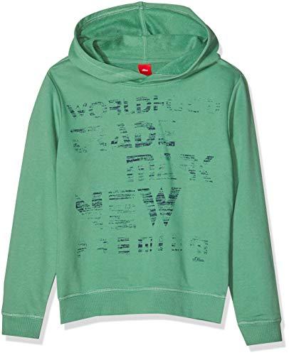 s.Oliver Jungen Sweatshirt 61.809.41.7860, Grün (Green 7343), 176 (Herstellergröße: XL/REG)