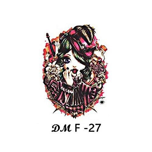 sive Blume Arm Tattoo Aufkleber wasserdicht Schädel Tintenfisch Guan Gong Schönheit Tattoo Aufkleber 2pcs-13 ()