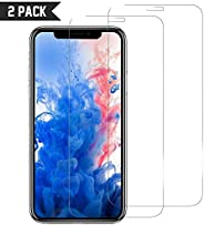 iPhone 11 Pro Tempered Glass Screen Protector [2 Pack] Easy Installation, 9H Scratch Resistance, Anti Bubble,