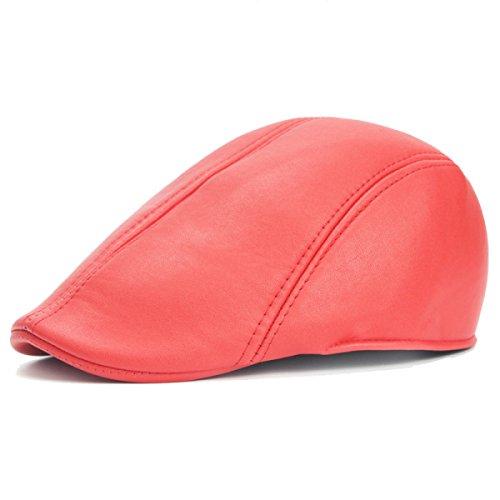 Automne Et L'hiver Les Hommes Et Les Femmes Le Cuir Le Chapeau Ainsi Que De Velours Chapeau Chaud Chapeau Avant Bouchon De Plein Air Voyage red