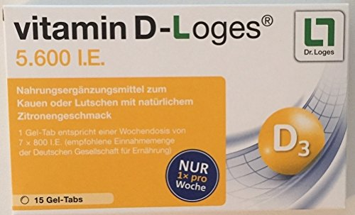 Vitamin D-Loges 5. 600 I. E. Kautabletten, 15 St