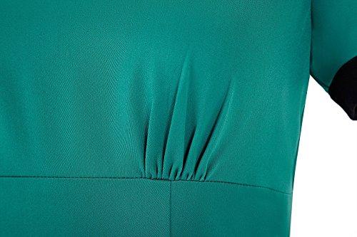 Grace Karin 50er Jahre Kleider Vintage Retro Festliche Kleider Knielang ZY6087 (Small, BP0068-3) -