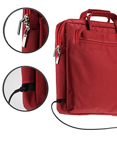 Navitech Rot Case/Cover Trage Tasche für Das Toshiba Portégé X20W