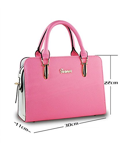 Flada, Borsa tote donna viola Purple medium Pink Purple
