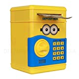 Speaking Money Safe For Kids with Smart Electronic Lock | Piggy Bank for Coin/Bills (Yellow) | Original Merchandise From Minion Series | Best Quality And Durable